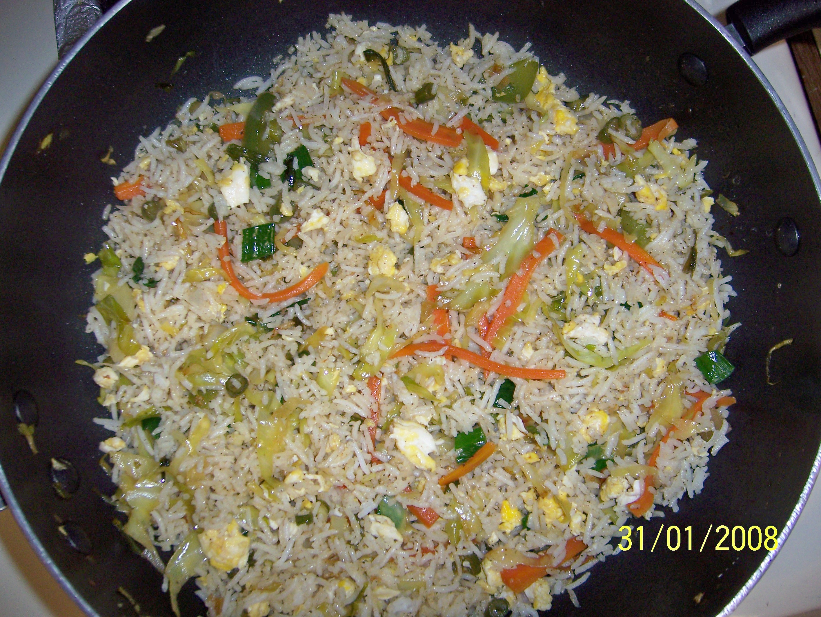 Vegetable and egg fried rice picture