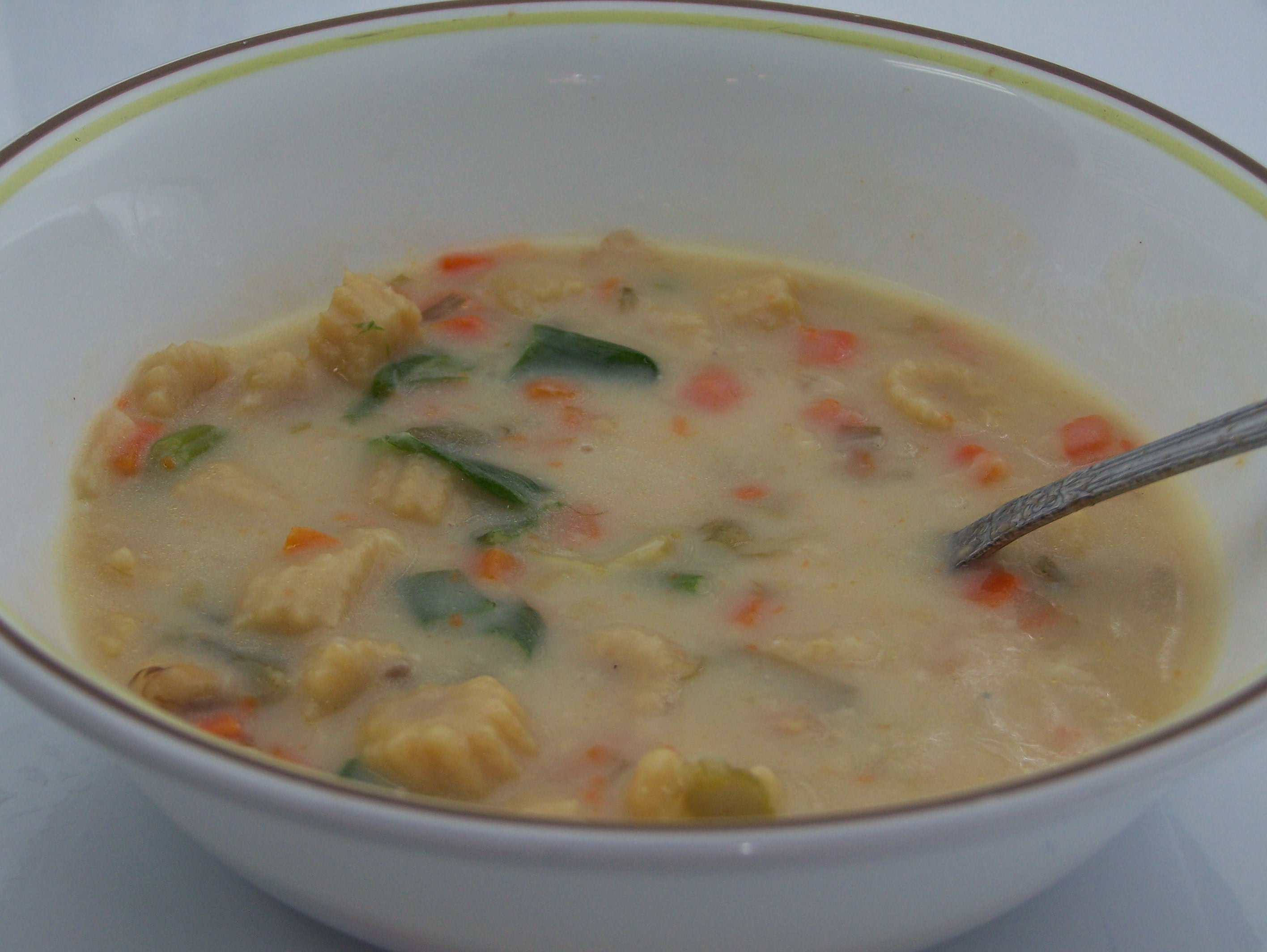 Baby corn soup picture