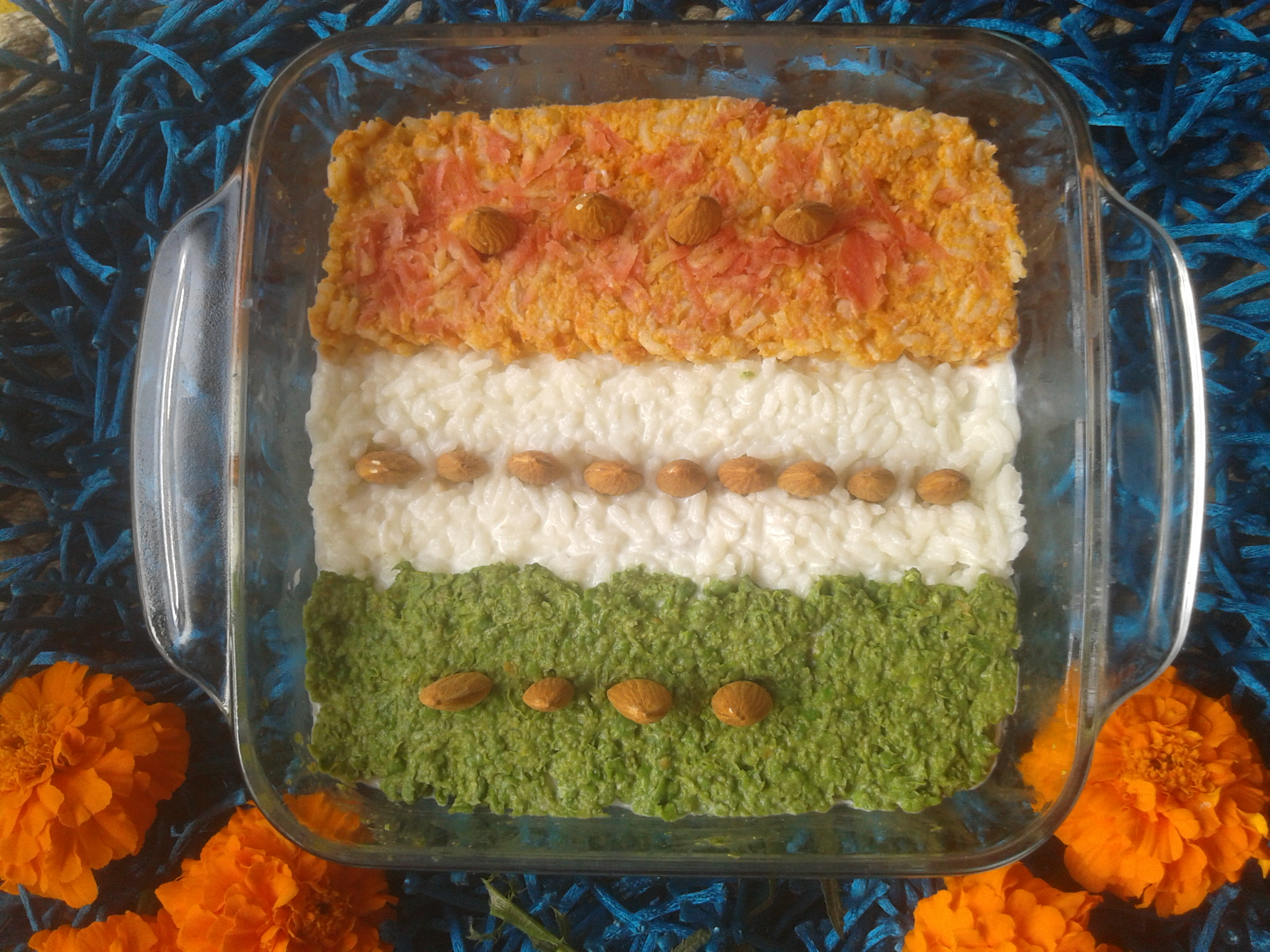 Tri-colored Carrot Rice Pudding  picture