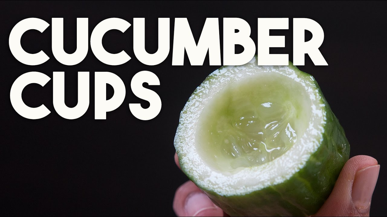 Cucumber cups canape perfect how to make and store for Canape cup fillings