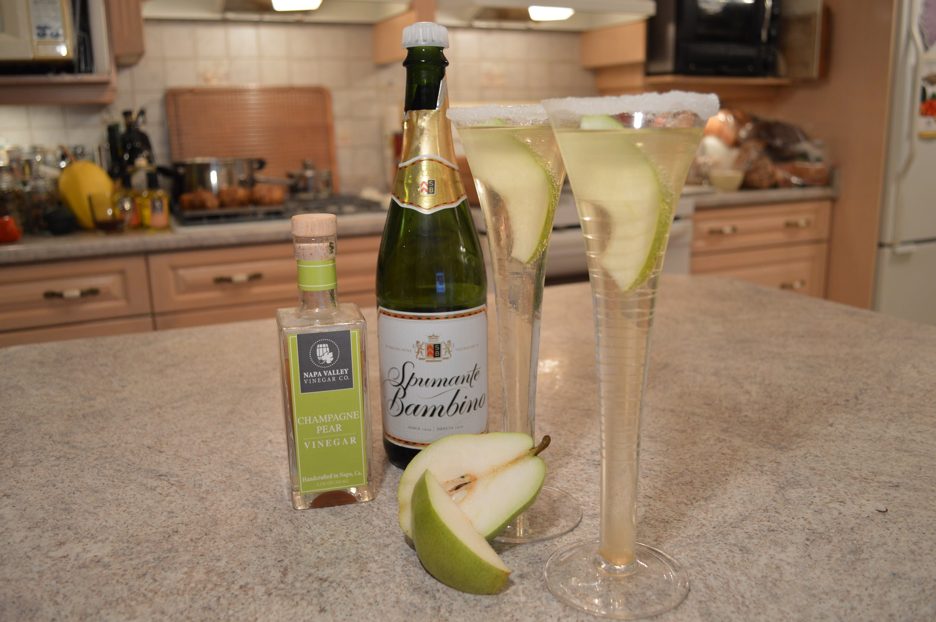 how to make pear puree for cocktails