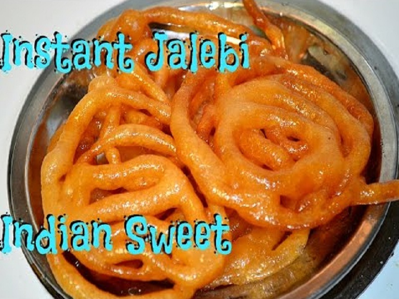 Easy Instant Jalebi - Indian Fennel Cake Sweet Recipe Video by ...