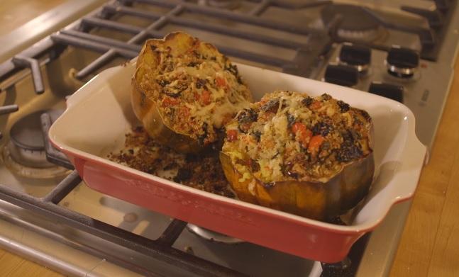 Asiago And Quinoa Stuffed Acorn Squash Recipe Video by ...