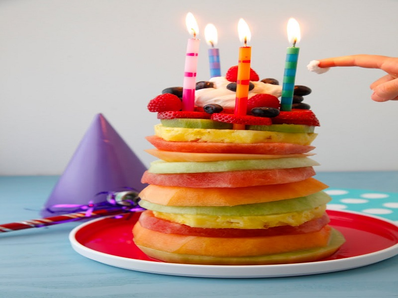 Fruit Tower Birthday Cake - Easy Party Recipe Recipe Video by ...