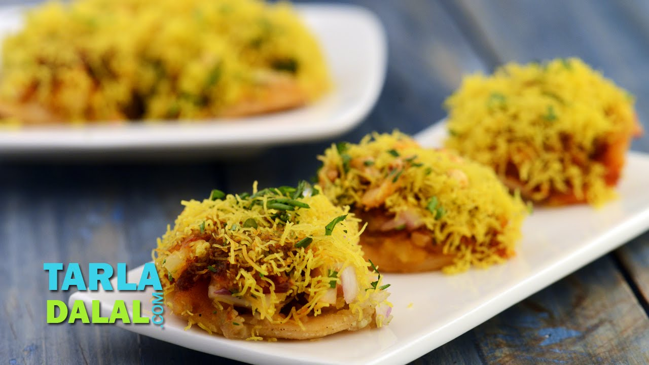 Sev Puri Recipe Video By Tarla Dalal Ifood Tv