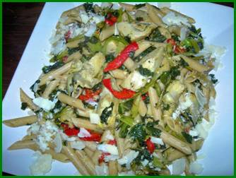 Cookin' Greens Pasta Rapini with NEW Artichokes Heart Quarters picture