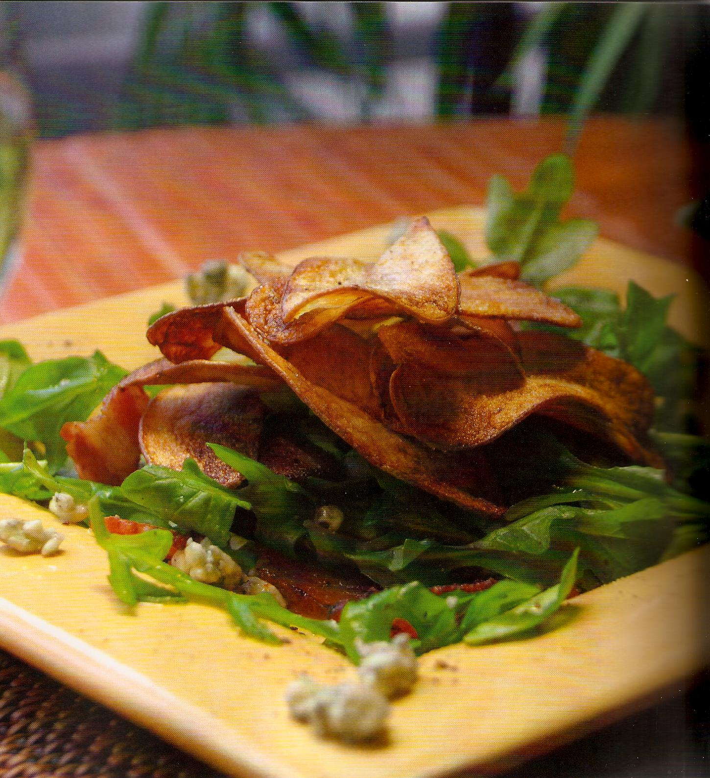 Arugula Salad With Crispy Fingerling Potato Chips picture
