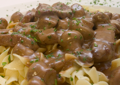 Beef stroganoff with Noodles picture