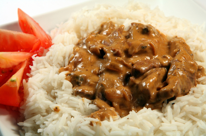 Beef Stroganoff With Rice picture
