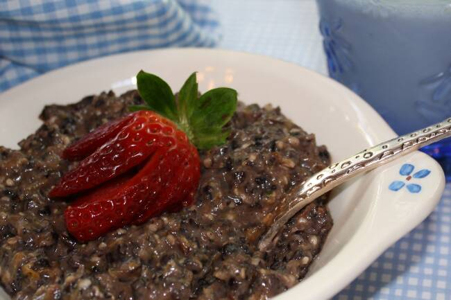 Black Rice Pudding  picture