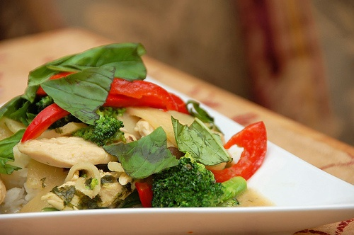 Thai Basil Chicken in Indian Coconut-Curry Sauce picture