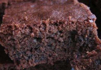Brownie dark chocolate picture