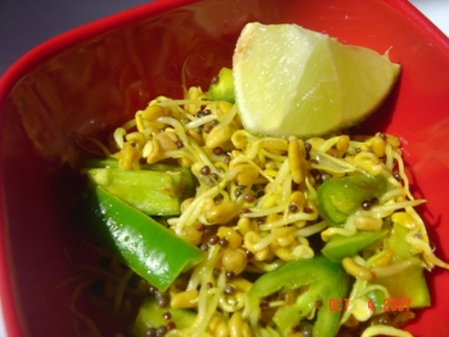 Fenugreek sprouts pickle picture