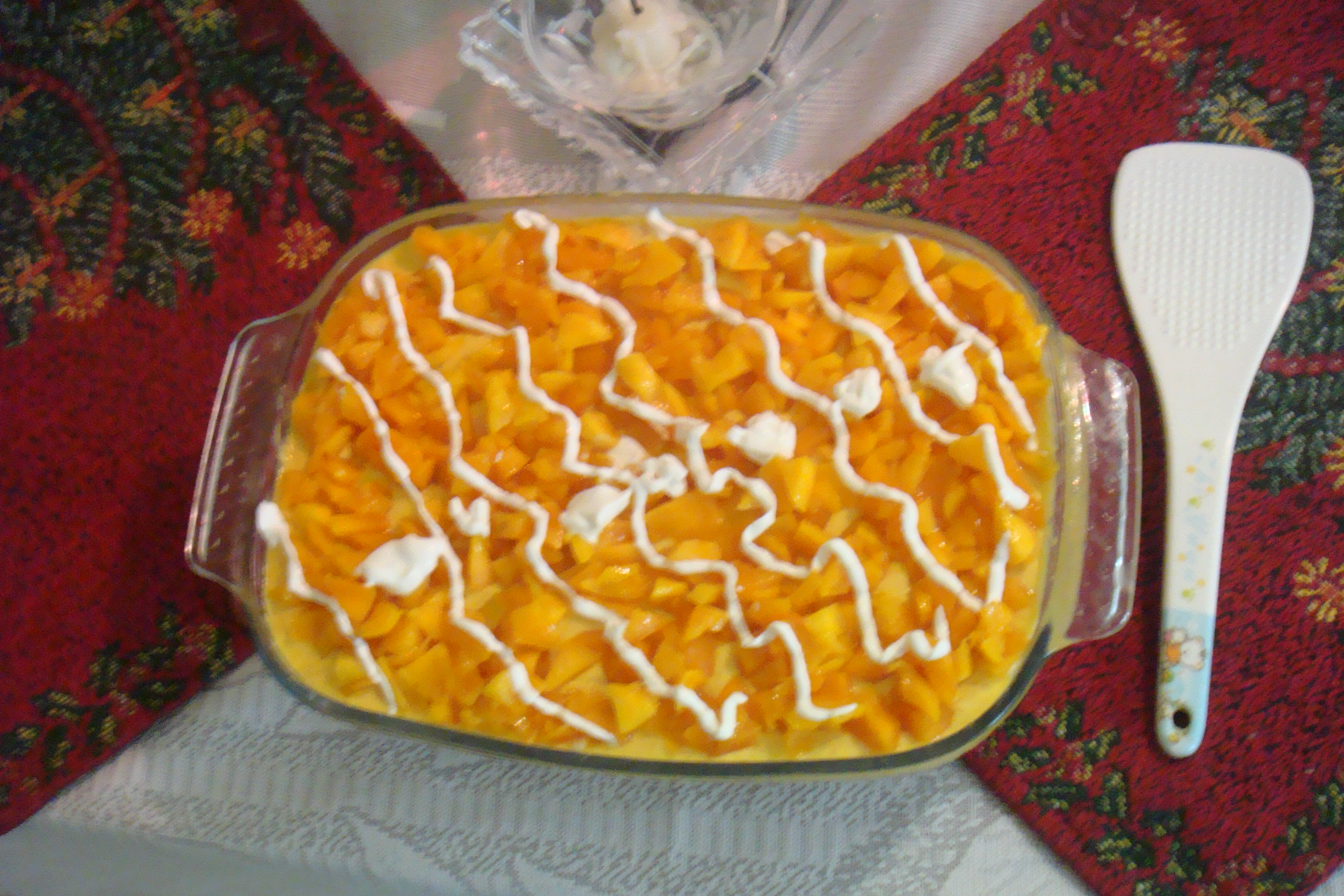 Mango Cold Cake picture