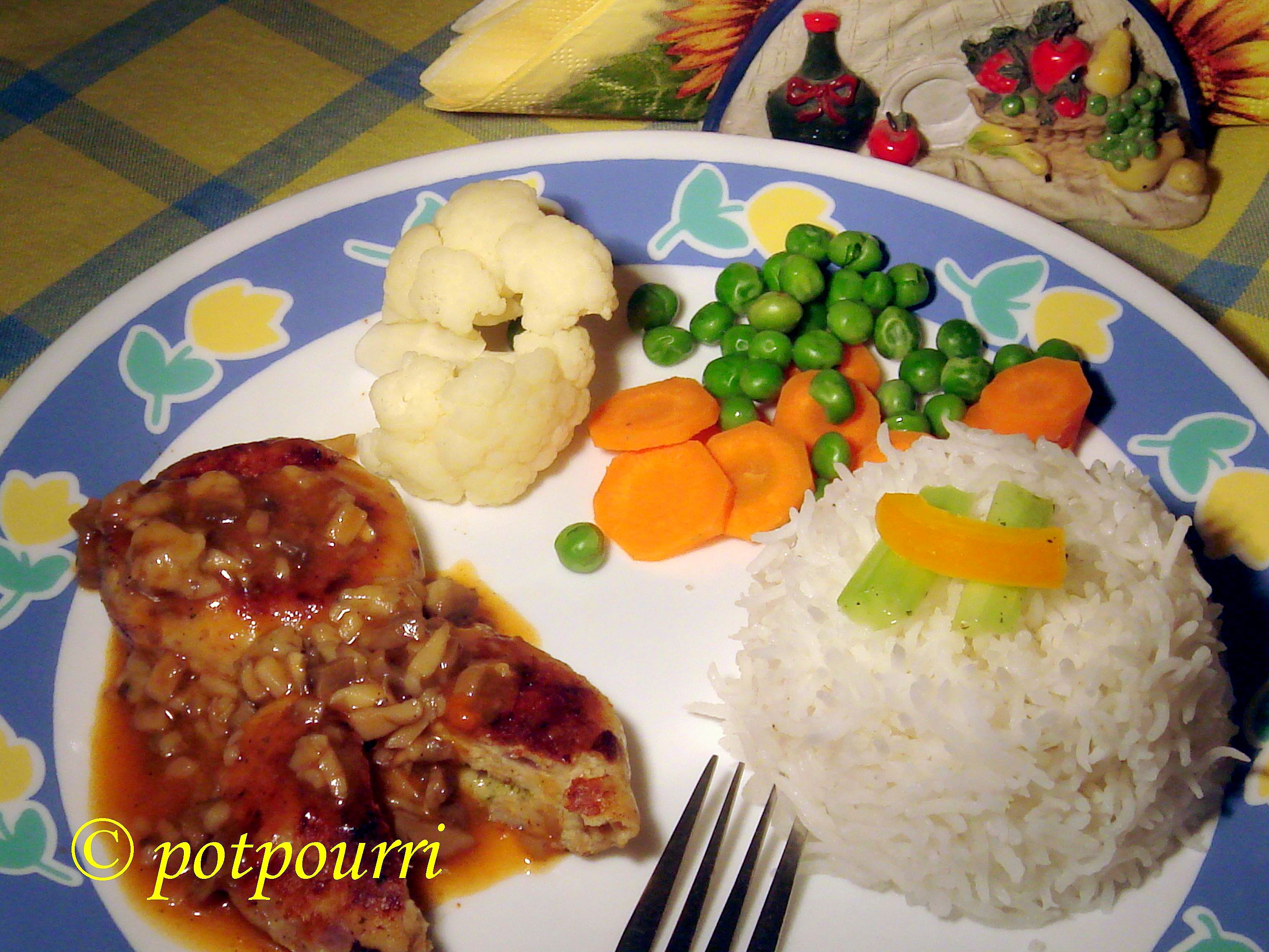Stuffed Chicken Minced Steak with Mushroom Sauce picture