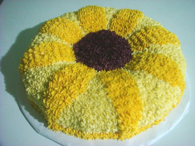 Homemade Sunflower Cake picture