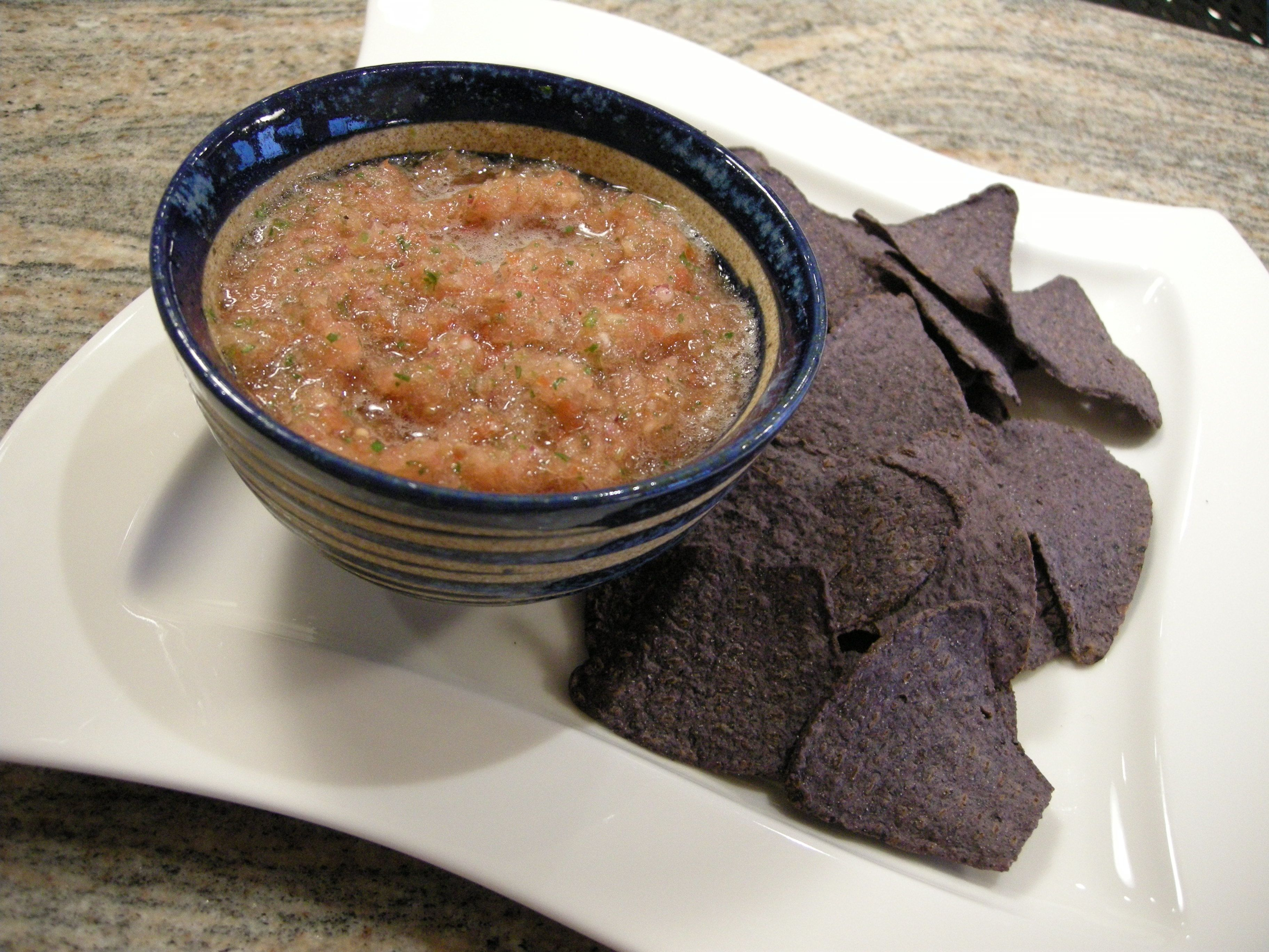 Salsa al Fresco w/Baked Blue Corn Chips picture