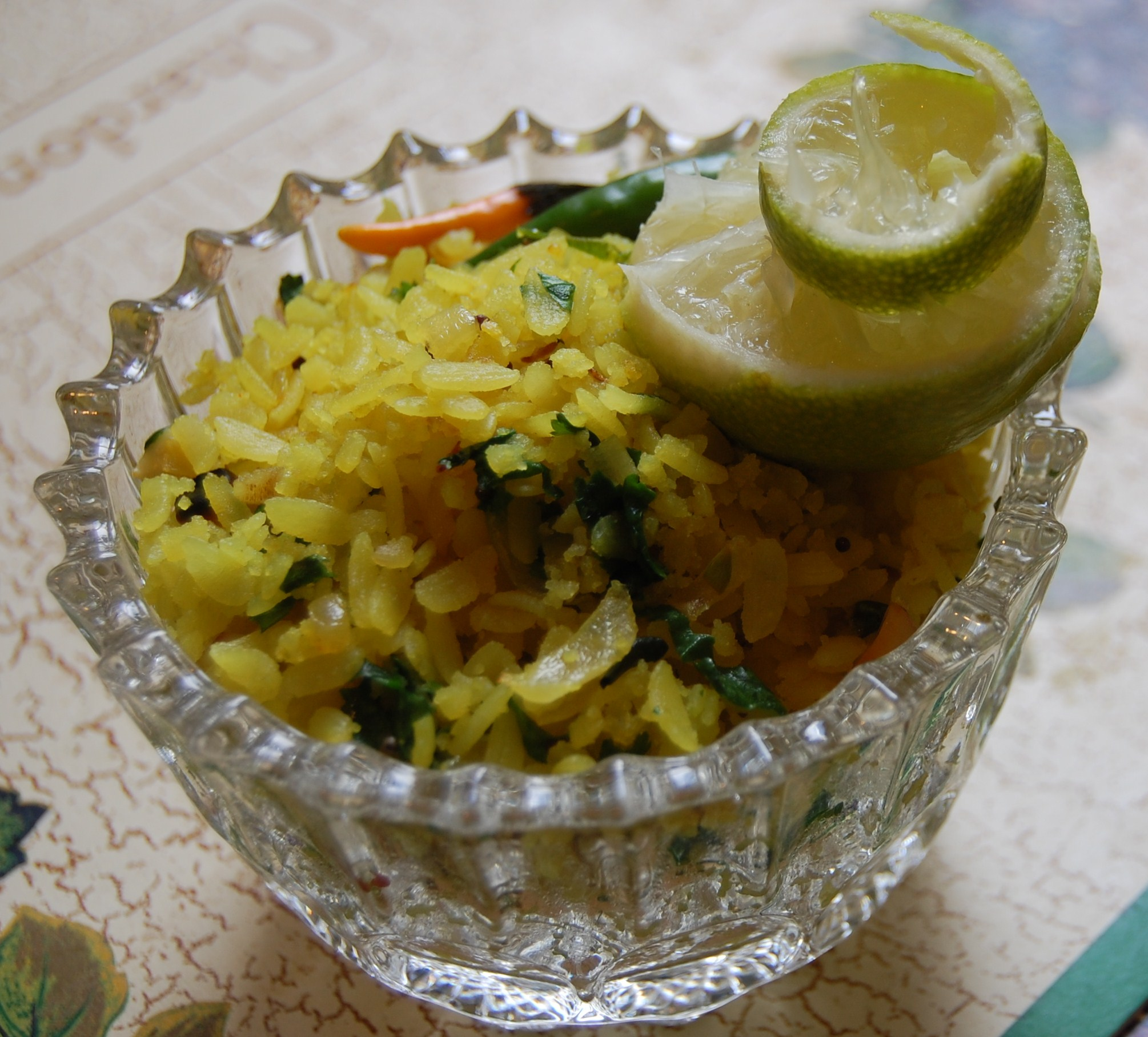 Aloo Poha ( Potato with rice crispy ) picture