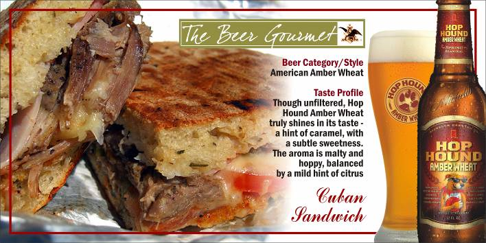Cuban Sandwich with American Amber Wheat picture