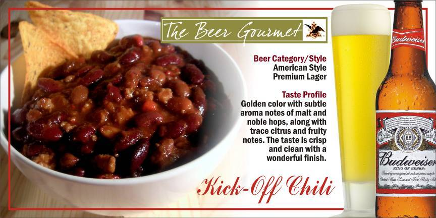 Kick-Off Chili with American Style Premium Lager picture