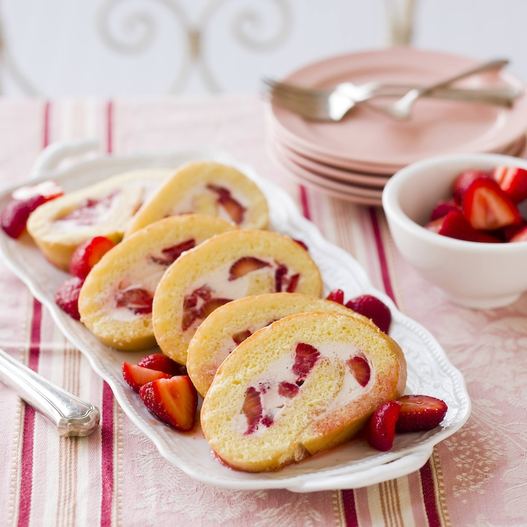 Strawberries & Cream Cake Roll picture