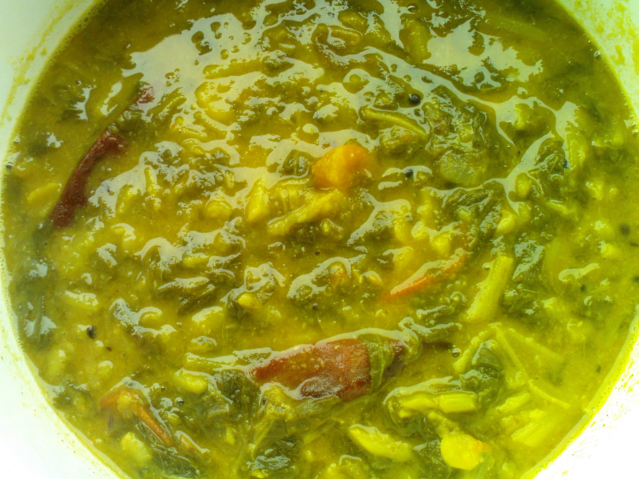 Greens Dal Curry picture