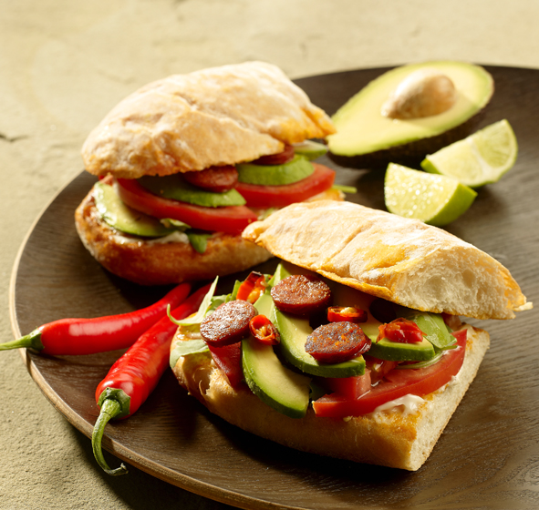Grilled Chorizo and Avocado Sandwiches picture