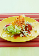 LETTUCE-WEDGE SALAD WITH TOMATO AND BACON DRESSING  picture