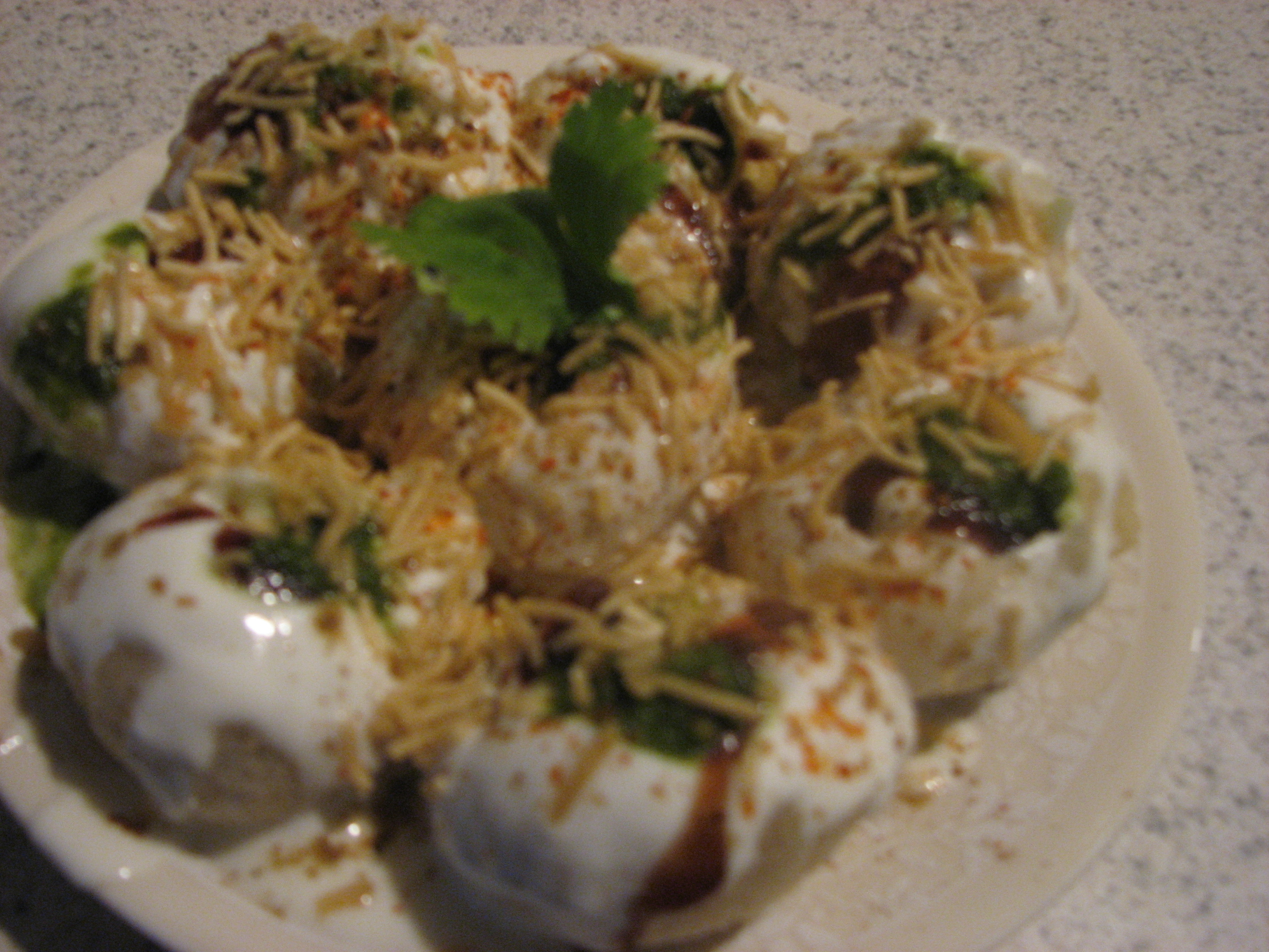 Dahi sev batata puri  picture