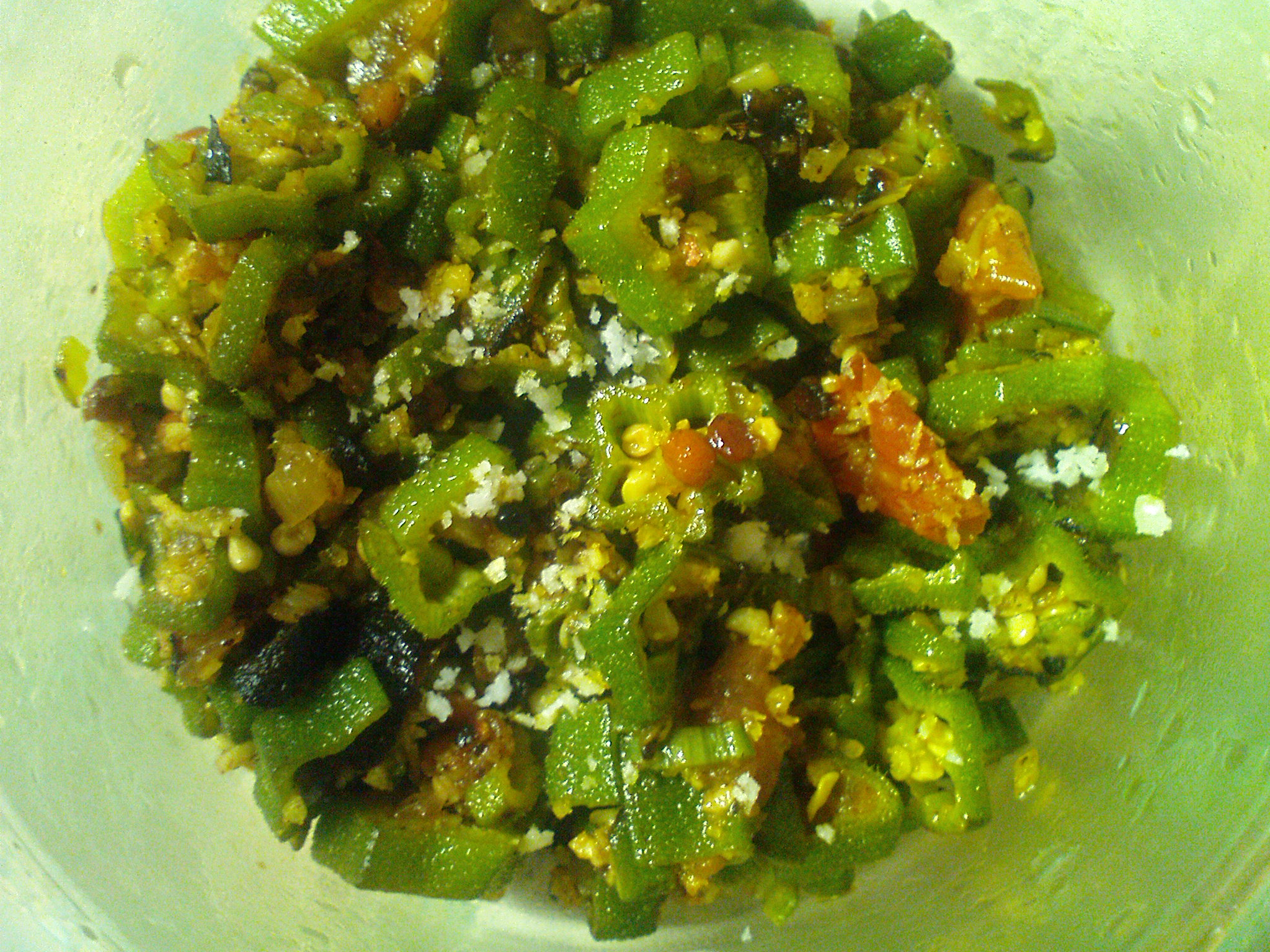 Lady's finger hot Saute (Okra/bendakaayi Saute) picture
