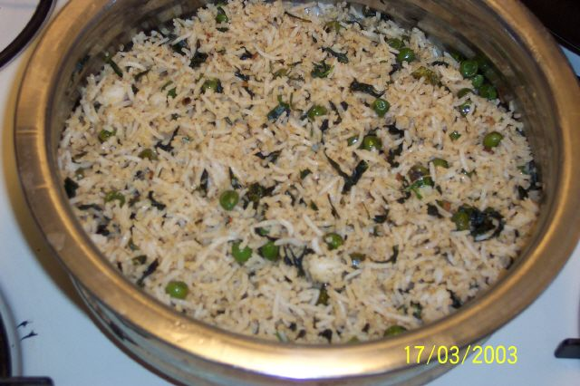 Methi rice pulav picture