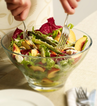 Nectarine, Asparagus and Blue Cheese Salad picture