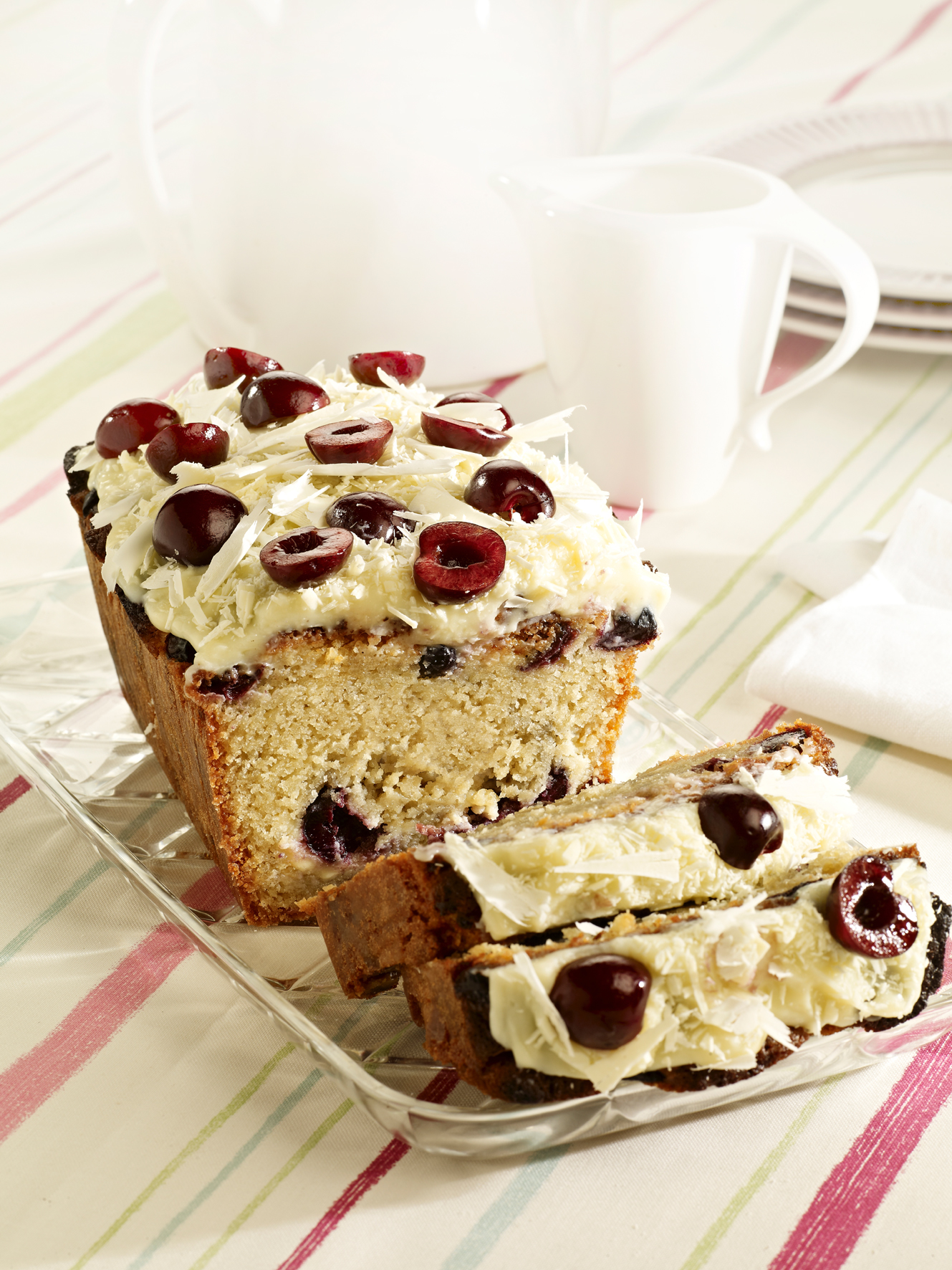 Picota Cherry Loaf with White Chocolate Frosting picture