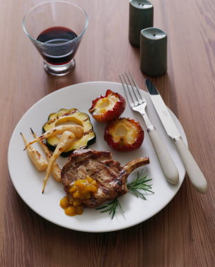 Pork Chop With Scallions And Apples picture