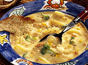 Clam, Mushroom And Potato Chowder