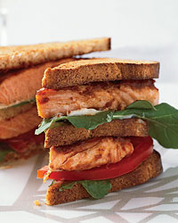Salmon Club Sandwiches picture
