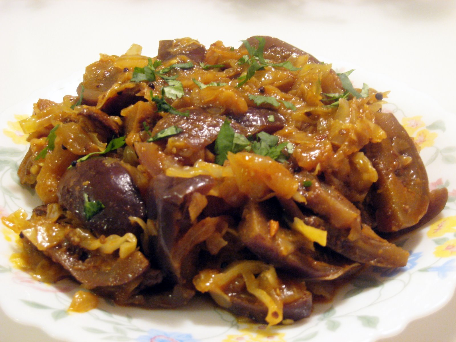 Spicy Brinjal Cabbage Curry picture