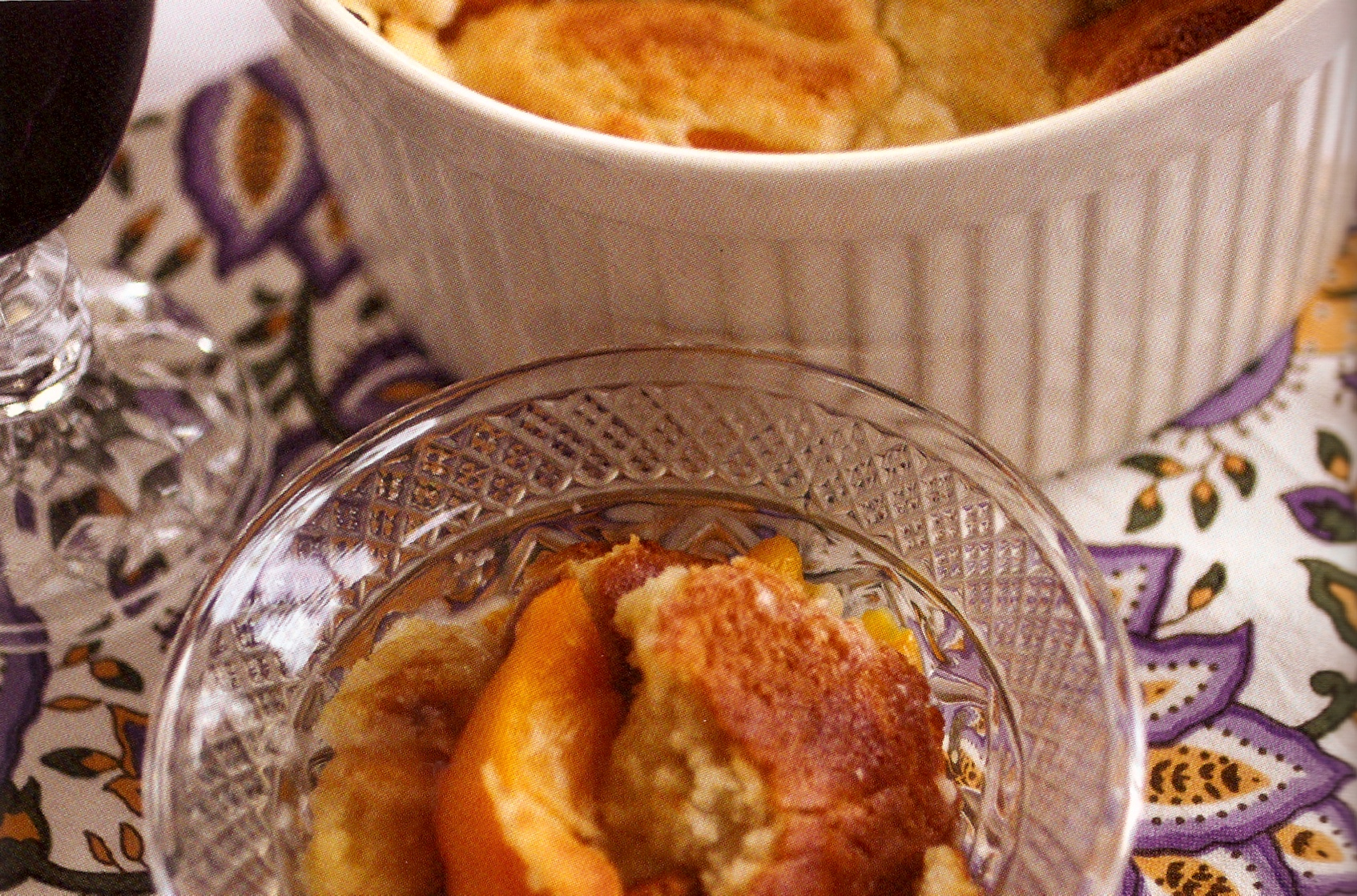 Poufed Peach Cobbler picture