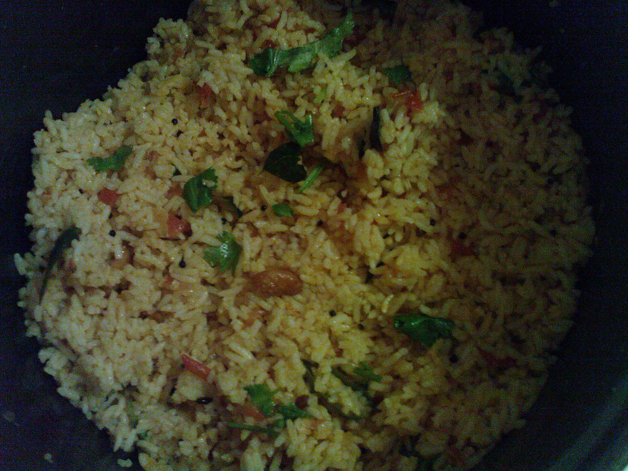 Tomato cashew rice picture