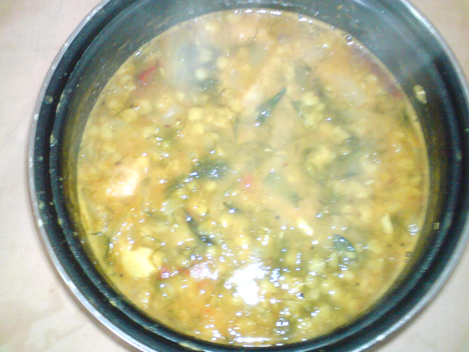 Dal with dill Leaves picture