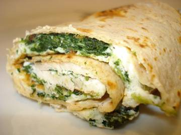 Cookin' Greens - Herbed Cheese and Greens Wrap  picture
