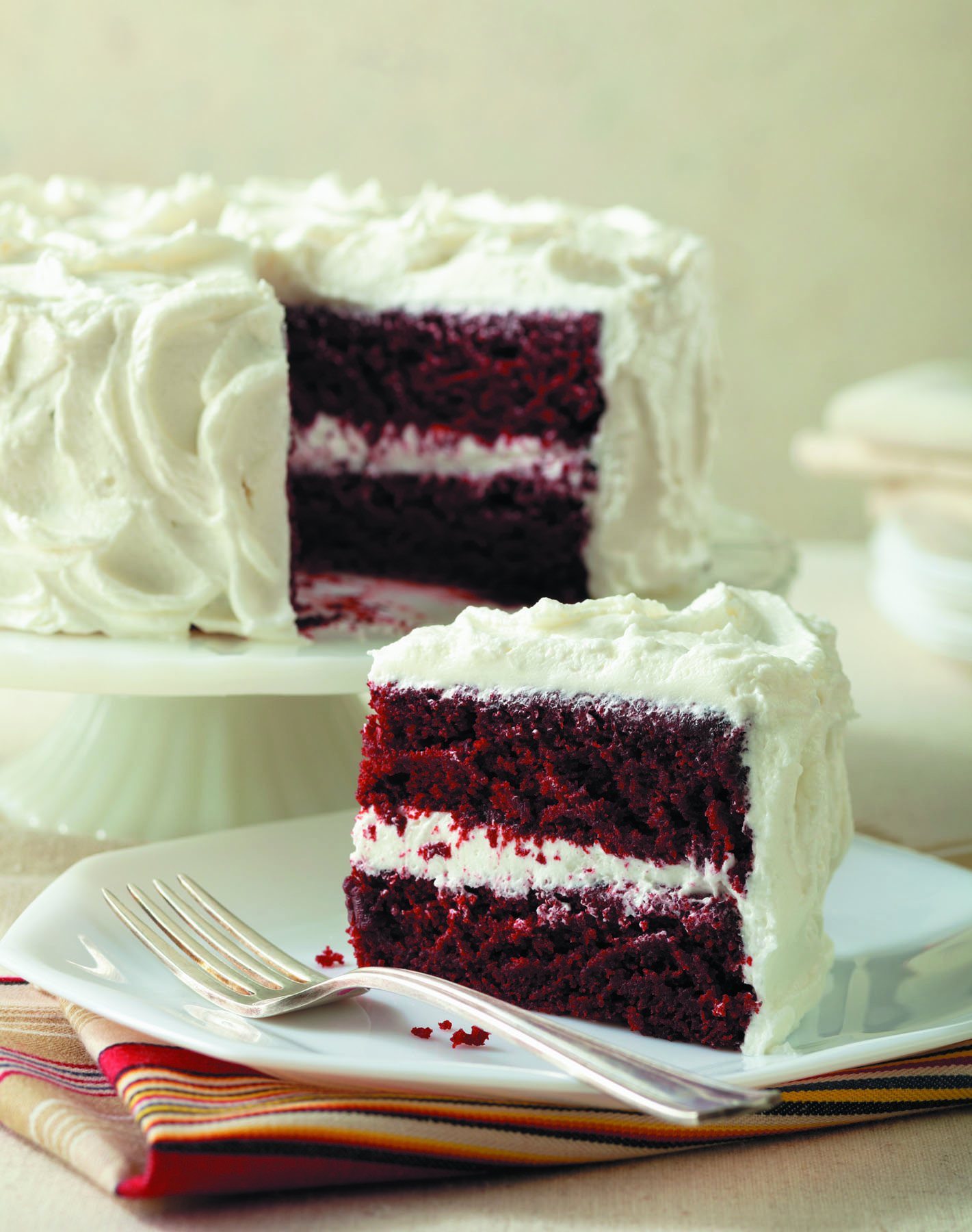 Red Velvet Cake With Velvet Frosting picture