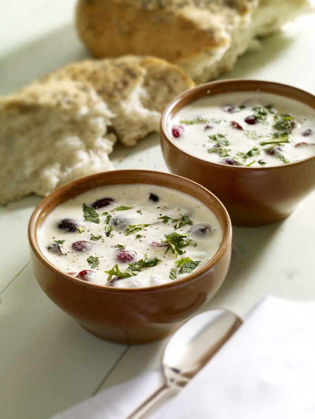 Almond Soup With Picota Cherries picture