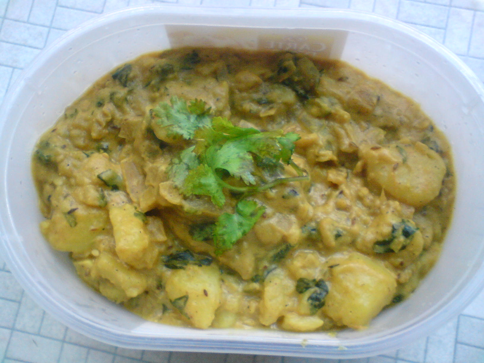 potato methi sabji picture