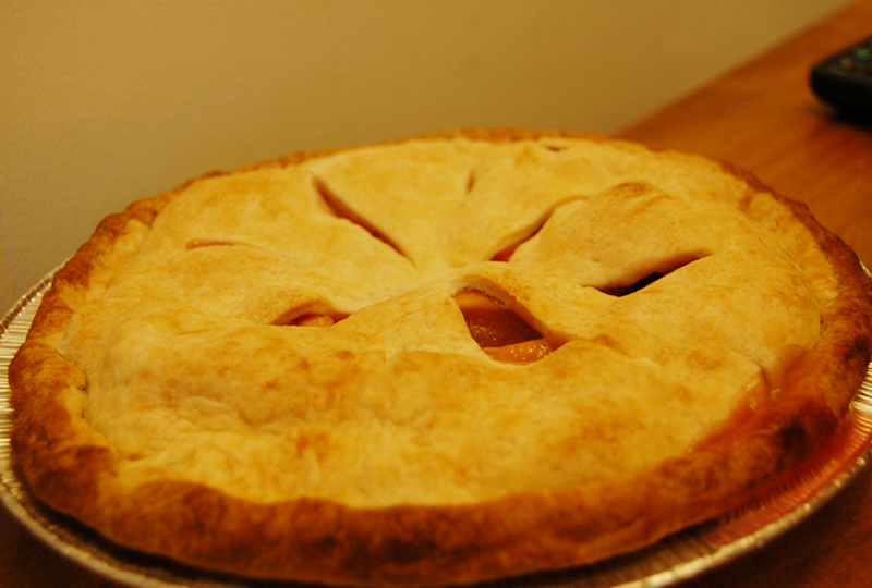 Peach Apple Pie picture