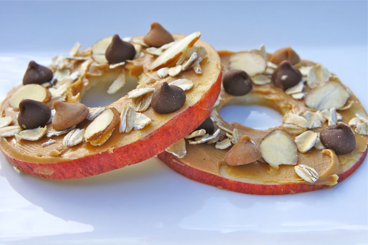 Apple and Peanut Butter Discs picture