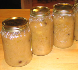 Chunky, Spiced Applesauce… with Soused Raisins picture
