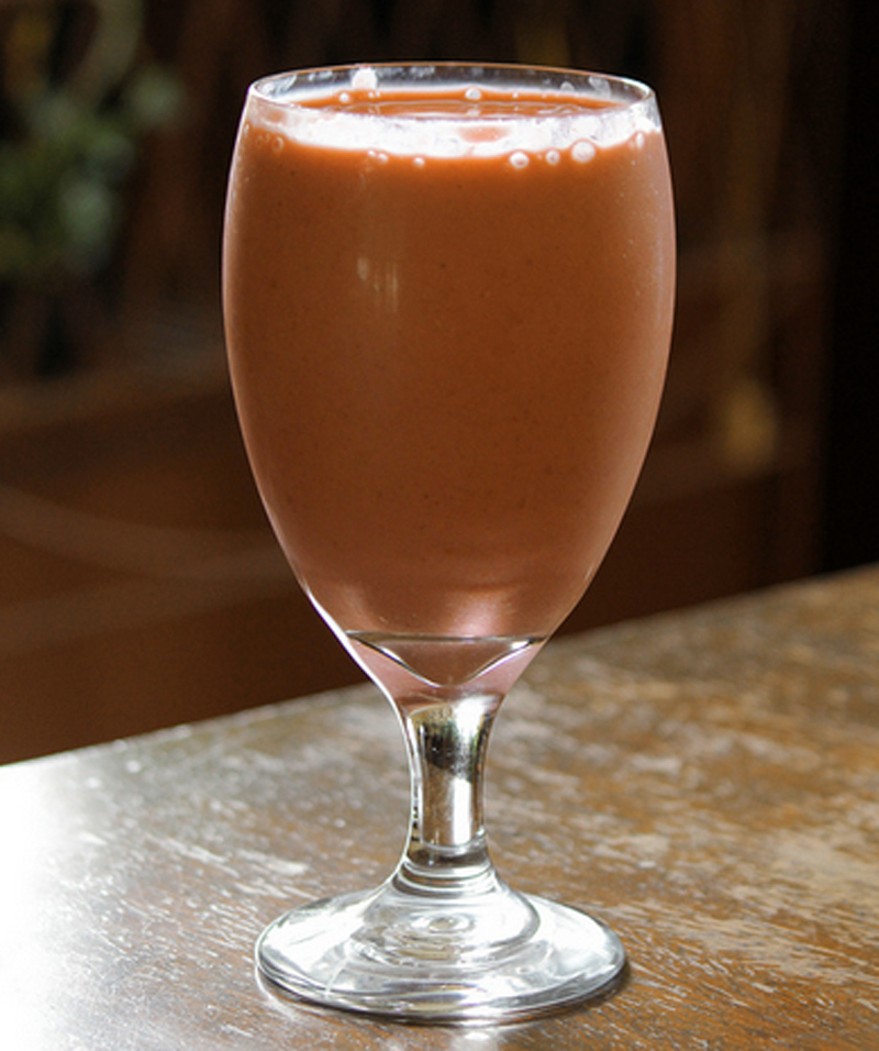 Apricot Strawberry Breakfast Cocktail picture