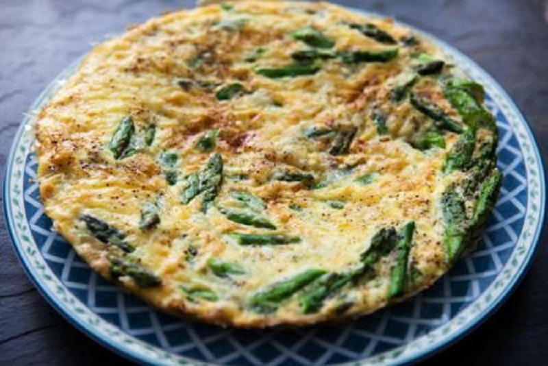 Asparagus  Pepper  and goat Cheese Frittata picture