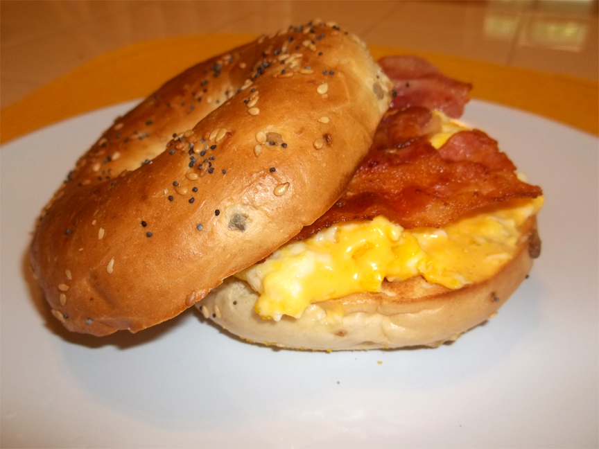 Bacon Veggie Bagel picture